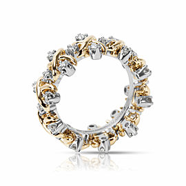 Tiffany & Co. Schlumberger Diamond Eternity Band in Platinum & 18KT Gold 1.00CTW