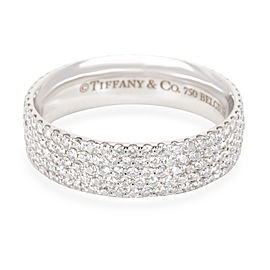 Tiffany & Co. Metro Diamond Eternity Band in 18K White Gold 0.9 CTW
