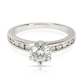 Tiffany & Co. Diamond Engagement Ring in Platinum G IF 1.25 CTW