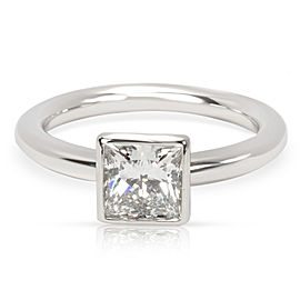 Tiffany & Co. Princess Cut Bezel Set Diamond Engagement Ring (1.04 ct G/VVS2)