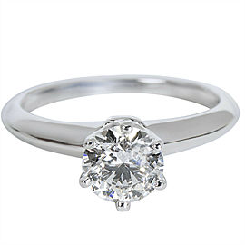 Tiffany & Co. Solitaire Diamond Engagement Ring in Platinum (0.82 CTW)