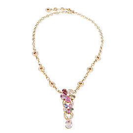 Bulgari Flora Sapphire & Diamond Necklace in 18KT Gold 2.24 CTW