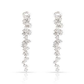 FRED Cascading Diamonds Dangle Earrings in 18K White Gold 4.13 CTW