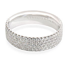 Tiffany & Co. 5 Row Metro Diamond Band in 18K White Gold 1.3 CTW