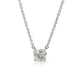 Tiffany & Co. Solitaire Diamond Pendant in Platinum E VS1 0.72 CTW