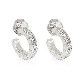 Cartier Lanieres Hoop Earring in 18K White Gold 1 CTW