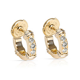 Cartier Diamond Half Hoop Earring in 18K Yellow Gold 0.6 CTW
