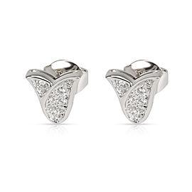 Graff Tulip Diamond Earring in 18K White Gold 0.22 CTW