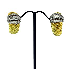 David Yurman diamond earrings in 18 karat yellow gold