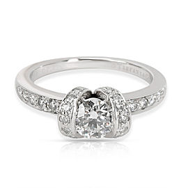 Tiffany & Co. Ribbon Diamond Engagement Ring in Platinum G VS2 0.74 CTW