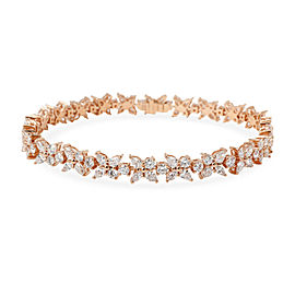 Tiffany & Co. Victoria Diamond Bracelet in 18K Rose Gold 6.25 CTW