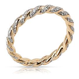 David Yurman Pavelex Diamond Ring in 18K Yellow Gold 0.35 CTW