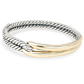 David Yurman Labyrinth Single Loop Bangle in 18K Yellow Gold/Sterling Silver