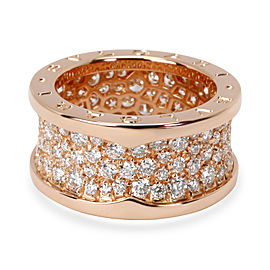 Bulgari B Zero 1 Diamond Band in 18K Rose Gold 2.8 CTW