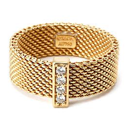 0d1d5511c Tiffany & Co. Somerset Diamond Fashion Ring in 18K Yellow Gold 0.08 CTW