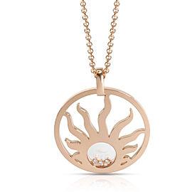 Chopard Happy Sun Diamond Pendant in 18K Rose Gold 0.09 CTW