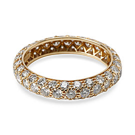 Tiffany & Co. Pave Diamond Eternity Band in 18K Yellow Gold 1.8 CTW