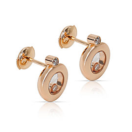 Chopard Happy Diamonds Earrings in 18K Rose Gold (0.18 CTW)