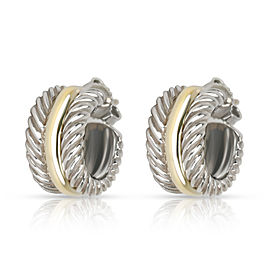 David Yurman Cable Classic Hoop Earring in 14K Yellow Gold/Sterling Silver
