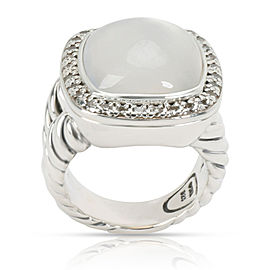 David Yurman Mother-of-Pearl & Quartz Doublet Albion Diamond Ring in Silver