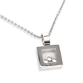 Chopard Square Happy Diamonds Pendant in 18K White Gold 0.55 CTW