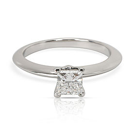 Tiffany & Co. Solitaire Diamond Engagement Ring in Platinum D VVS2 0.5 CTW