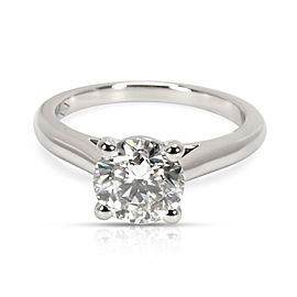 GIA Certified Cartier Diamond Engagement Ring in Platinum H VVS1 1.31 CTW
