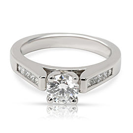 GIA Certified Diamond Engagement Ring in Platinum G IF 0.76 CTW