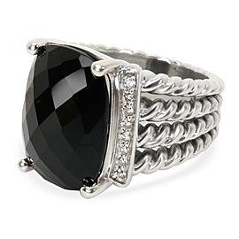 David Yurman Wheaton Diamond Ring in Sterling Silver 0.16 CTW