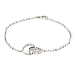Cartier Interlocking Circles Love Bracelet in 18K White Gold