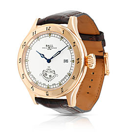 Ball Trainmaster Secometer NM1098D Men's Watch in 18kt Rose Gold