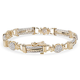 Diamond Cable Bar Bracelet in 14K Yellow Gold