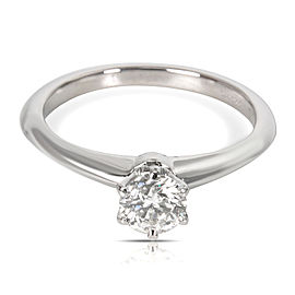 Tiffany & Co. Diamond Solitaire Engagement Ring in Platinum (0.39 ct F/VVS2)