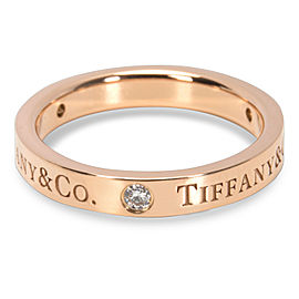 Tiffany & Co. Diamond Flat Band in 18K Rose Gold