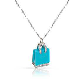 Tiffany & Co. Diamond Shopping Bag Pendant in Platinum (1/4 CTW)