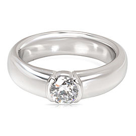 Tiffany & Co. Semi Bezel Diamond Engagement Ring in Platinum (0.54 ct E/VVS2)