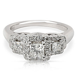 Vera Wang Love Collection Diamond Engagement Ring in 14K White Gold 0.75 CTW