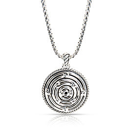 David Yurman Labyrinth Large Disc Pendant in Sterling Silver
