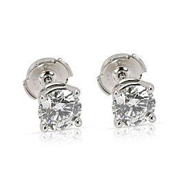 Tiffany & Co. Diamond Stud Earrings in Platinum G VVS1/VVS2 2.34 CTW