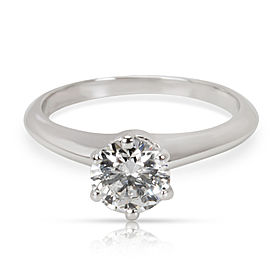 14865d8be3bf Tiffany   Co. Diamond Solitaire Engagement Ring in Platinum F VS1 (0.64 ...