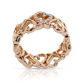 Tiffany & Co. Elsa Peretti Loving Heart Diamond Band in 18K Rose Gold 0.06 CTW