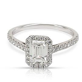 Tiffany & Co. Soleste Emerald Diamond Engagement Ring in Platinum G VS1 1.29 CT
