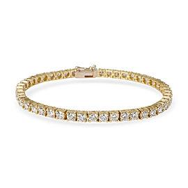 Four Prong Diamond Tennis Bracelet in 18K Yellow Gold (7.50 CTW)