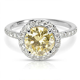 GIA Certified Brownish Yellow Diamond Engagement Ring in 14K Gold (2.53 CTW)