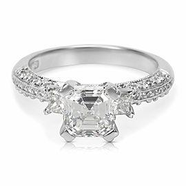 GIA Certified Tacori Diamond Engagement Ring in Platinum 1.93 ctw F VS1
