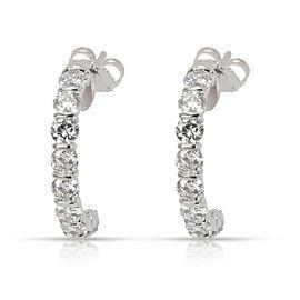Diamond Half Hoop Earring in 14K White Gold 2.00 CTW