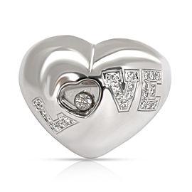 Chopard Happy Love Diamond Ring in 18K White Gold 0.16 CTW