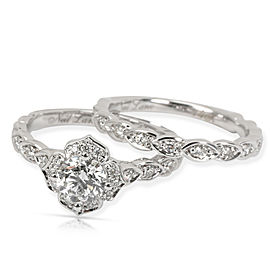 Neil Lane Diamond Engagement Ring Wedding Set in 14K White Gold (1 CTW)