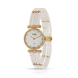 Van Cleef & Arpels Pearl Dress 18601 BI NCI Women's Watch in 18kt Yellow Gold