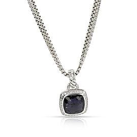 David Yurman Albion Black Orchid Diamond Pendant in Sterling Silver 0.23 CTW